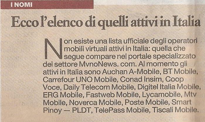MVNO News Affari&Finanza