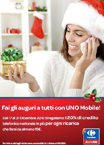 Natale 2012 Carrefour UNO Mobile