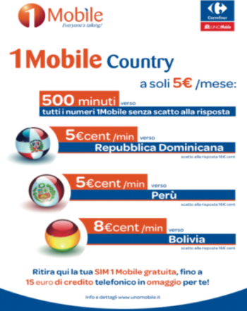 1Mobile Country