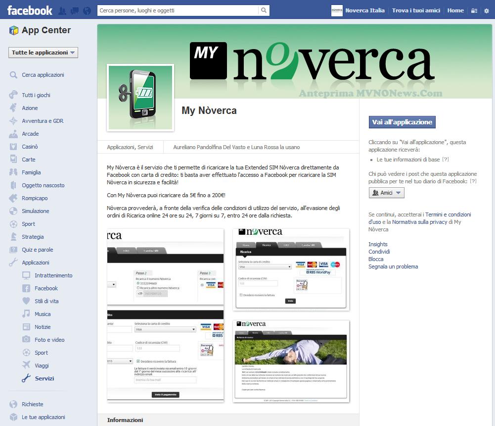 App Facebook Nòverca