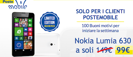 Lumia 630 Offerta PosteMobile