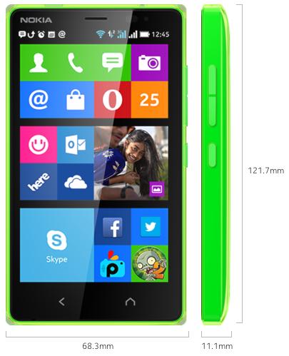 Nokia X2 Specifiche