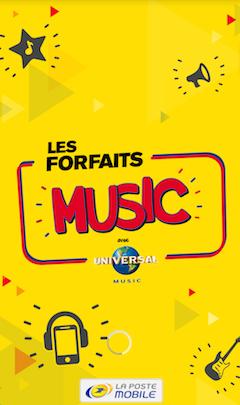 Les Forfait Music - La Poste Mobile