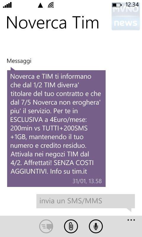 SMS TIM Nòverca