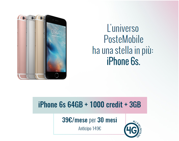 Promo iPhone 6S PosteMobile