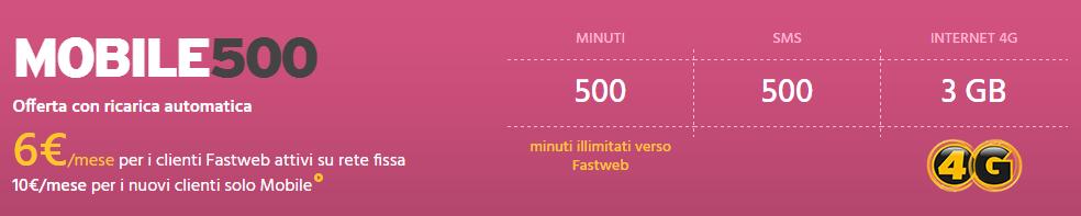Fastweb Mobile 500 4G