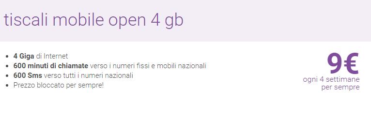 Tiscali Open 4 GB