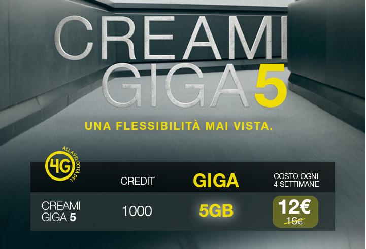 PosteMobile CREAMI GIGA 5