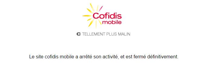 Chiusura Cofidis Mobile