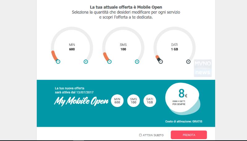 Tiscali Mobile Open Personalizzazione