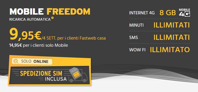 Mobile Freedom spedizione SIM inclusa