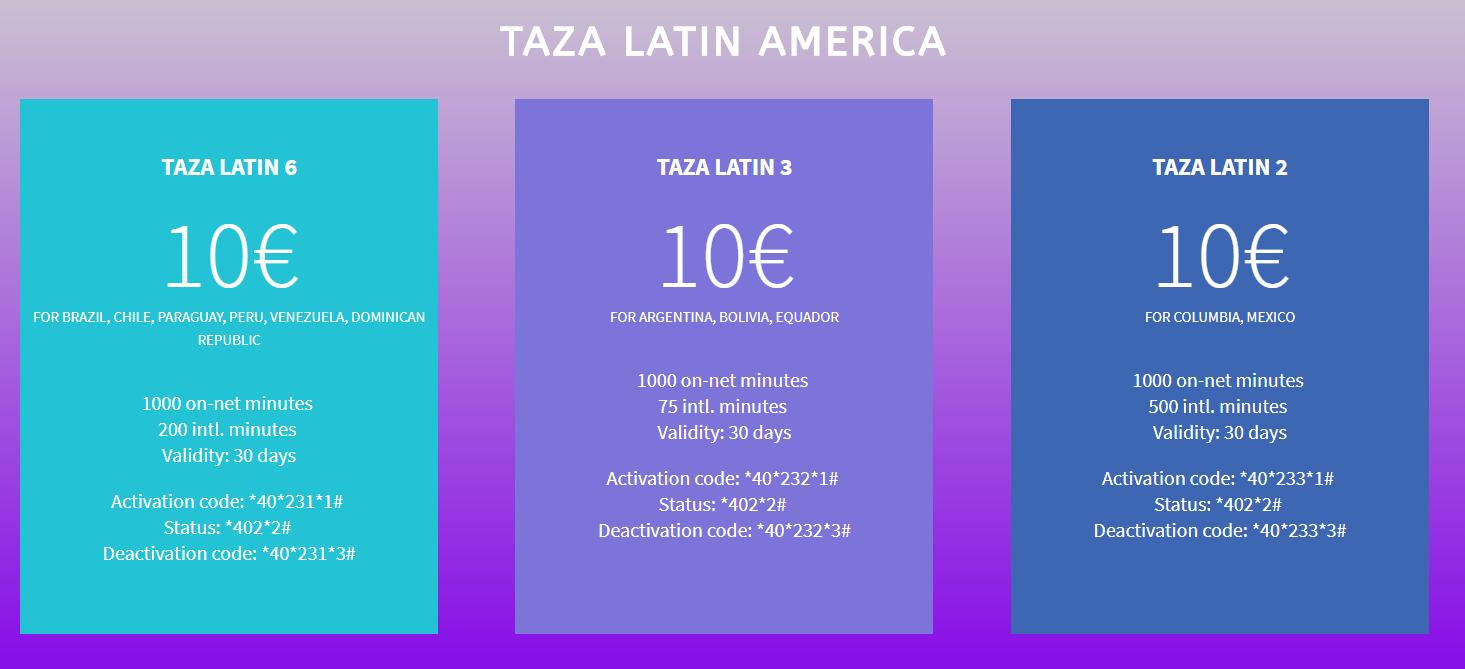Taza Latin America