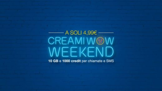 CREAMI WOW Weekend promo PosteMobile