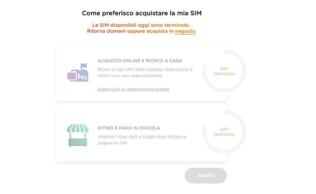 ho. Mobile acquisto online