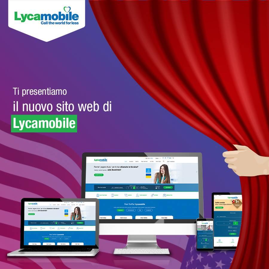 Nuovo sito Lycamobile