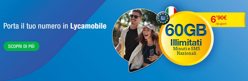Promo portabilità Lycamobile