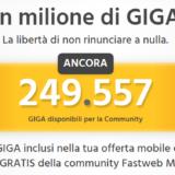 Consumi 1 Milione di Giga Fastweb