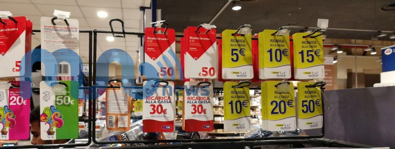 Ricariche PosteMobile supermercati U2