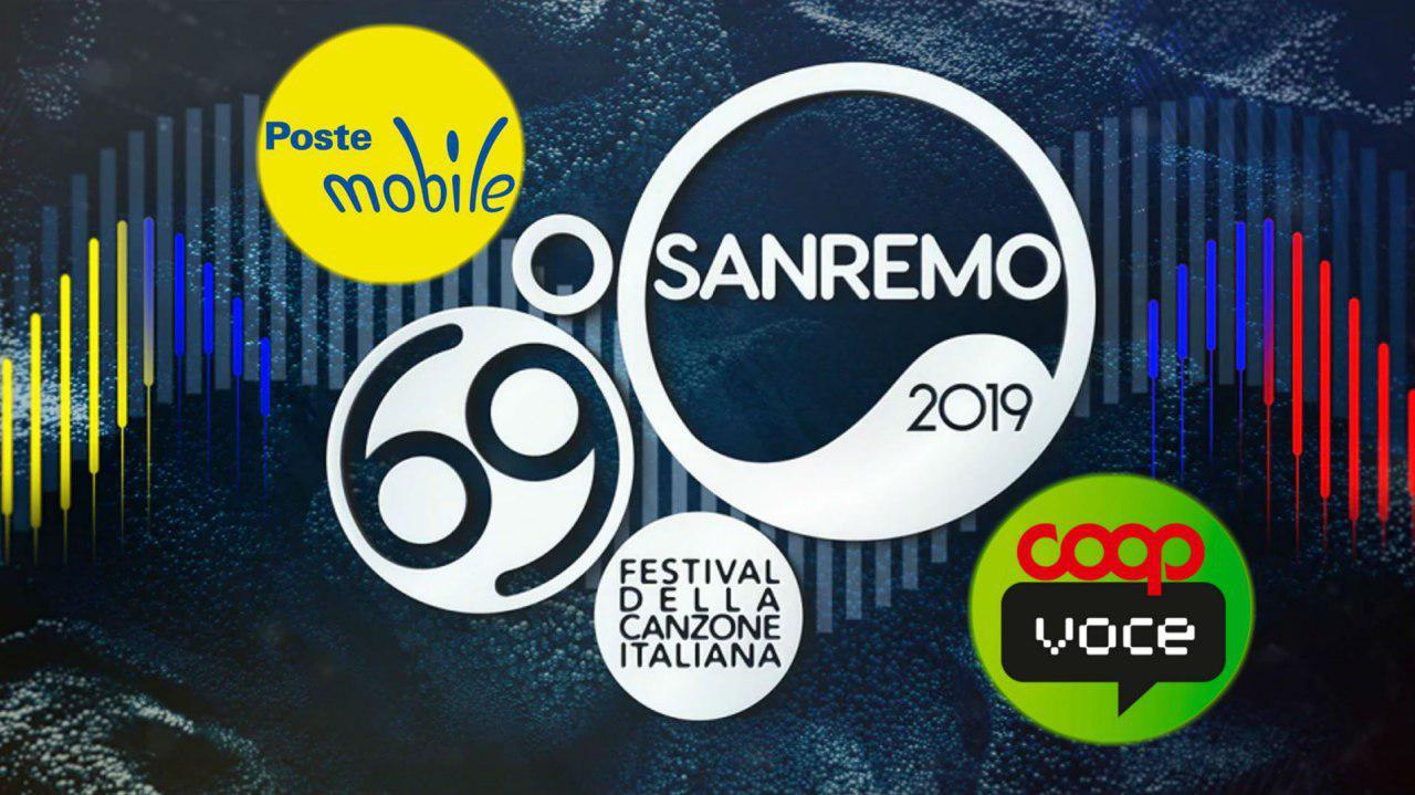 Sanremo 2019 PosteMobile e CoopVoce