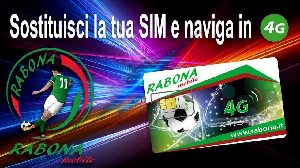 Sostituzione SIM Rabona 4G