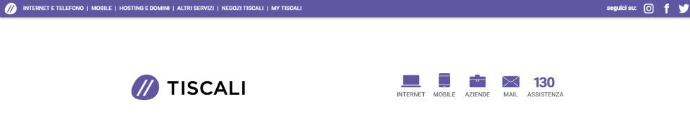 Homepage Tiscali