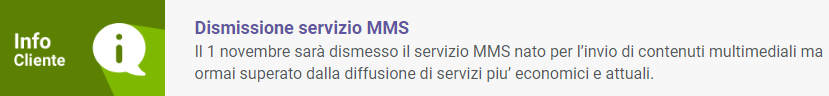 Dismissione servizio MMS Tiscali Mobile