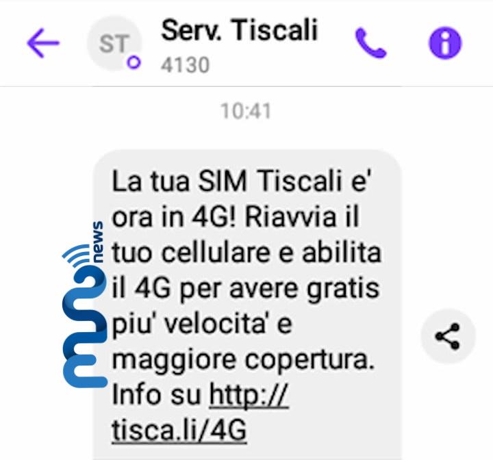 SMS 4G Basic Tiscali Mobile