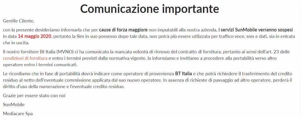 Comunicazione SunMobile