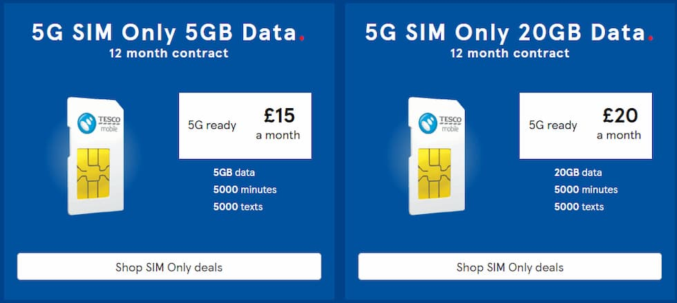 5G Tesco Mobile
