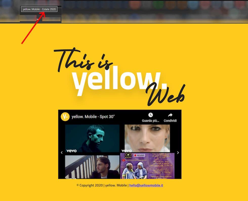 Titolo Yellow. Mobile