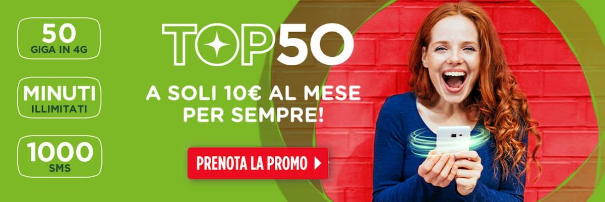 Prenotazione CoopVoce TOP 50