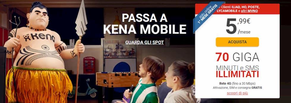 Kena Mobile primo mese gratis online