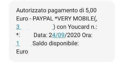 Addebito Very Mobile