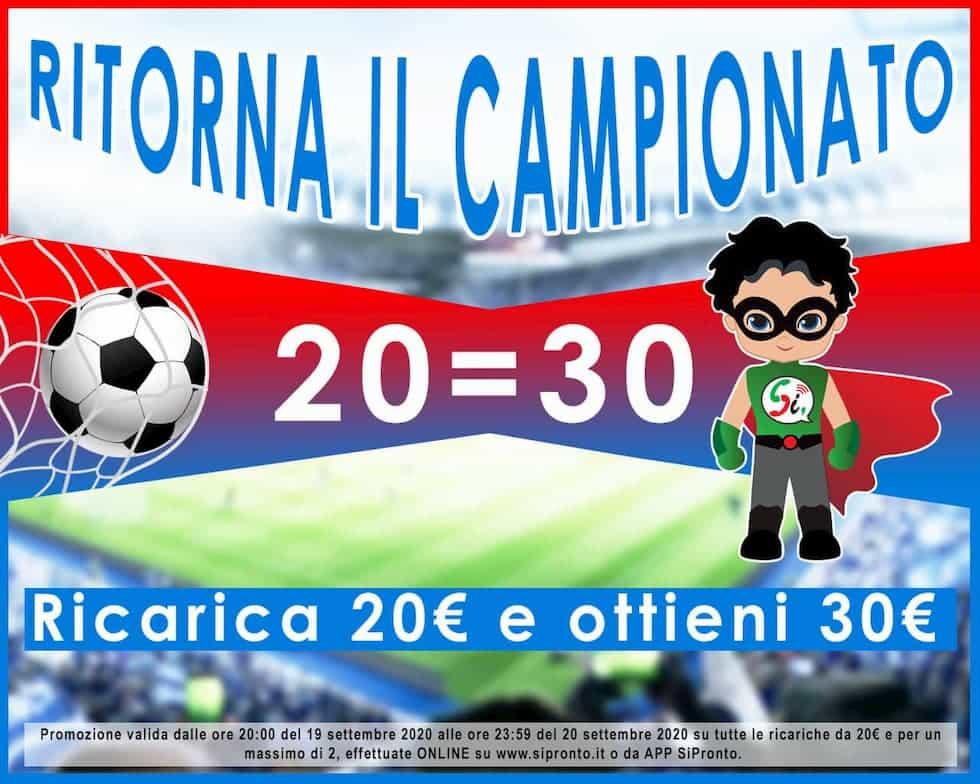 Promo ricarica Sì Pronto Campionato Serie A