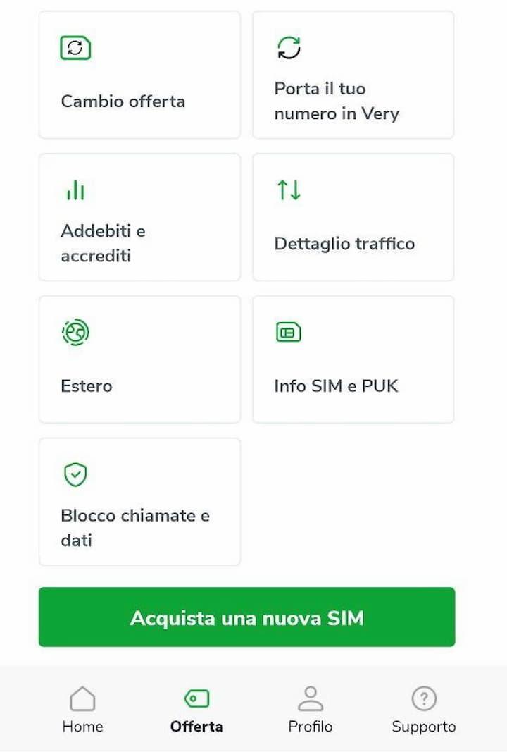 Aggiornamento App Very Mobile 5 ottobre 2020