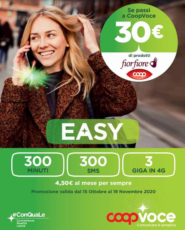 CoopVoce Easy 15 ottobre 2020