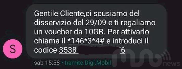 SMS Bonus 10 Giga DIGI Mobil