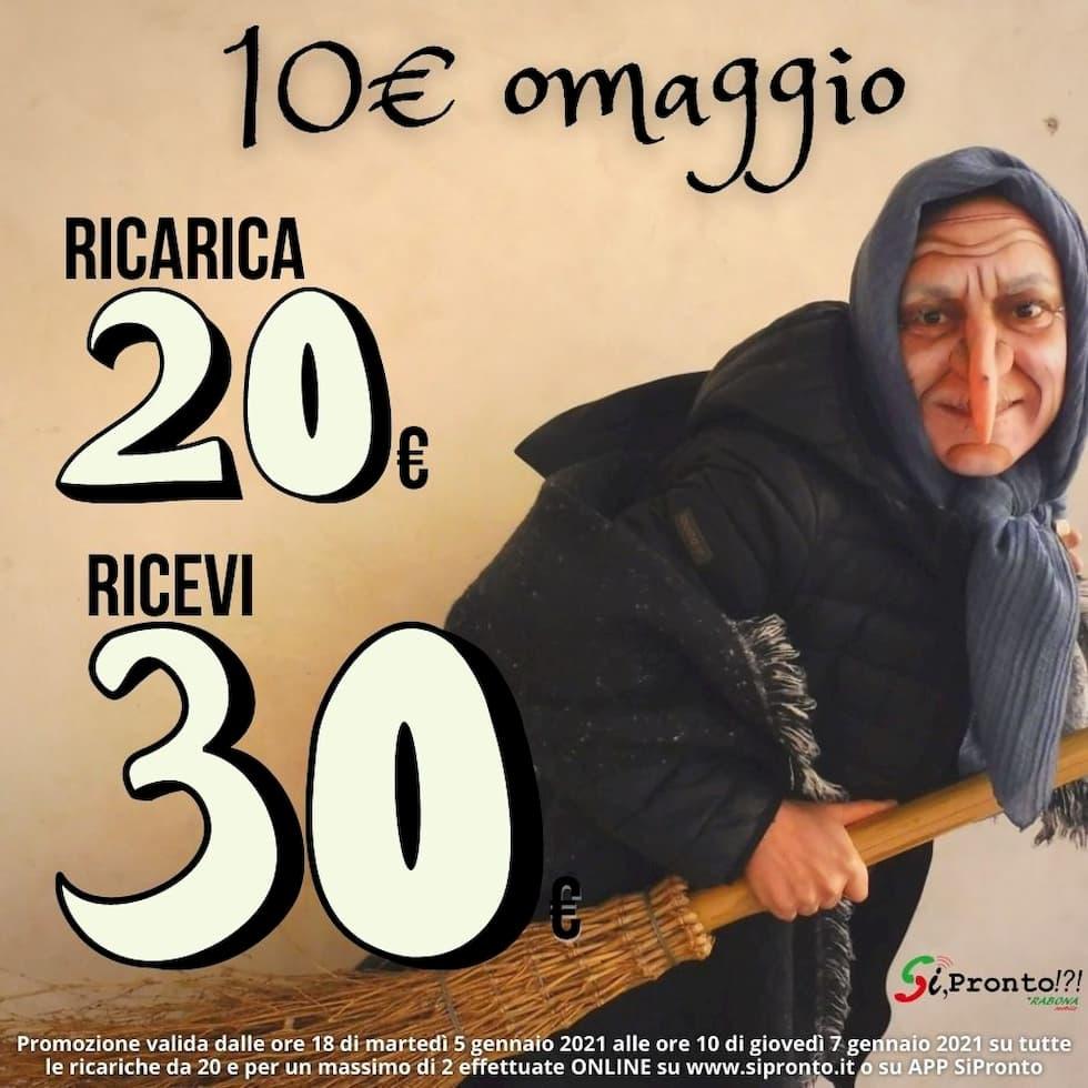 Promo Ricarica SiPronto Epifania 2021