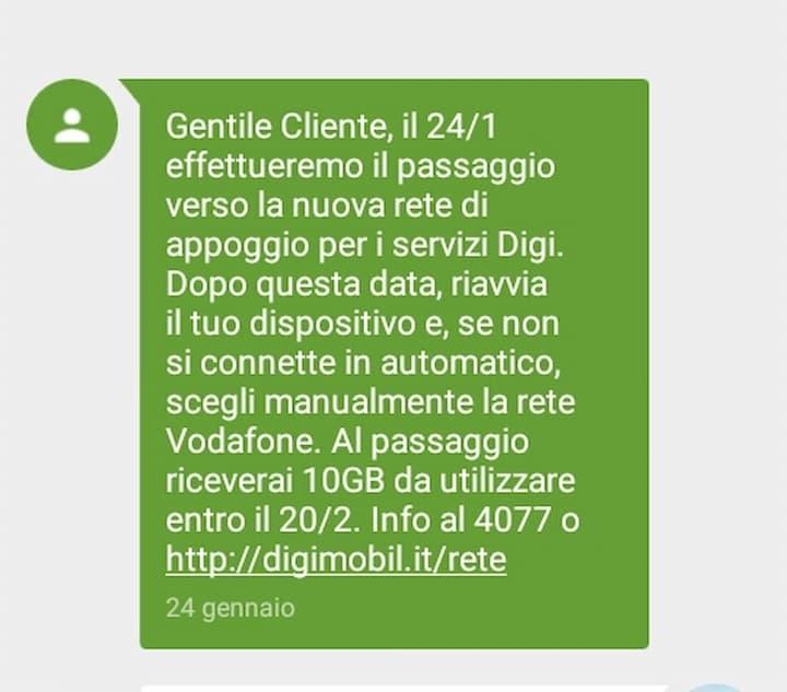 SMS DIGI 10 GB omaggio