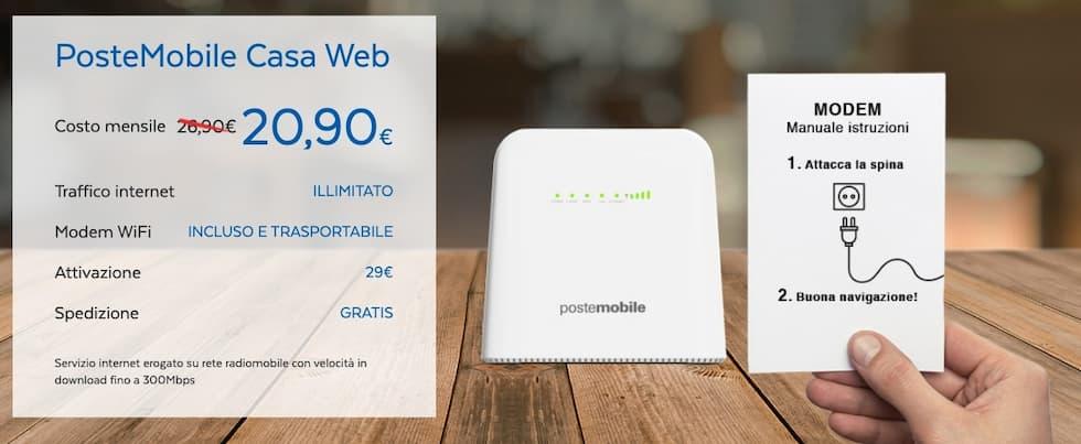 Offerta PosteMobile Casa Web