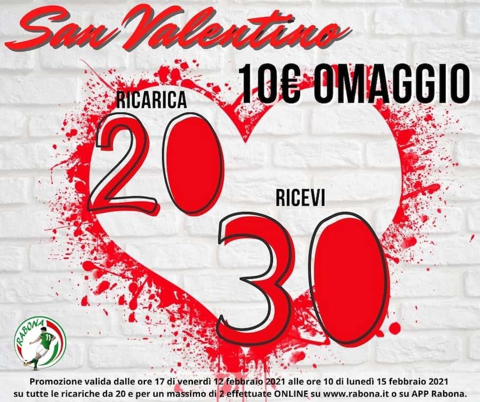 Ricarica omaggio San Valentino Rabona