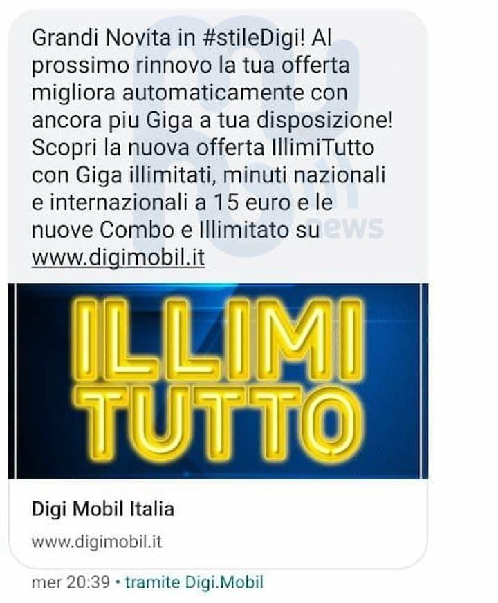 SMS DIGI Mobil nuove offerte