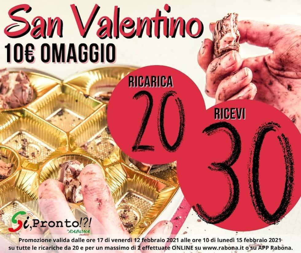 SiPronto ricarica omaggio San Valentino