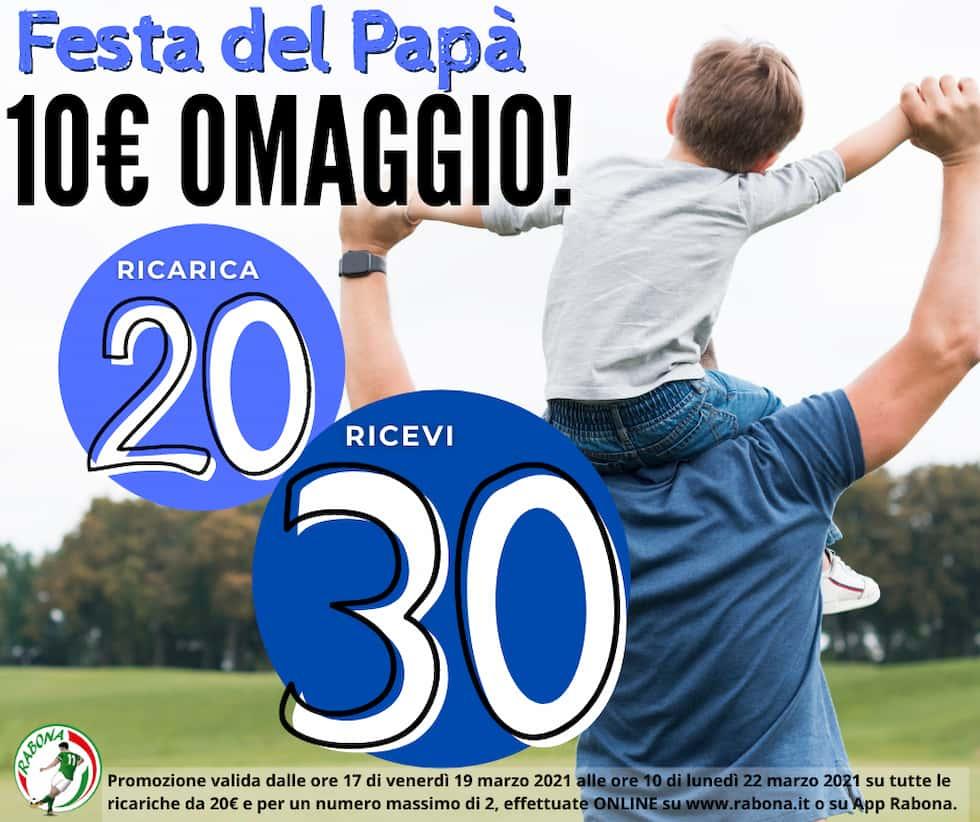 Ricarica omaggio Rabona Festa del papà