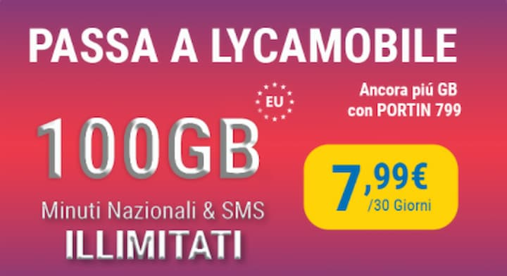 Lycamobile Port In 100 GB