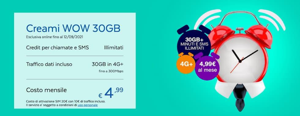 PosteMobile Creami WOW 30 GB 08092021